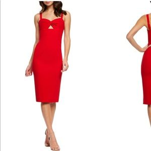 Dress the population - Red Midi Dress
